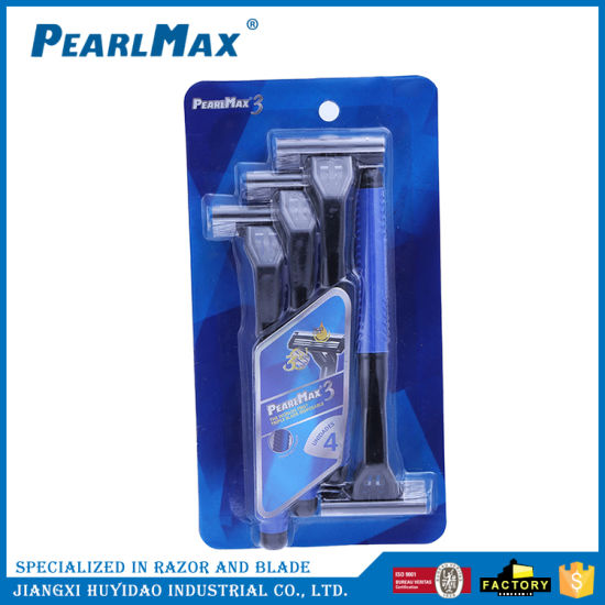 Cheap Razor Triple Blade Stainless Steel Blade Disposable Razors pictures & photos
