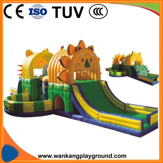 Outdoor Inflatable Lion Bouncy Slide Toy (WK-W1026)