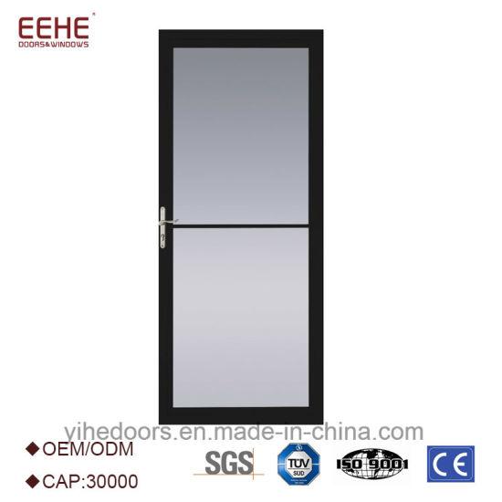 China Aluminum Door Aluminum Frame Glass Door with Tempered Glazing ...