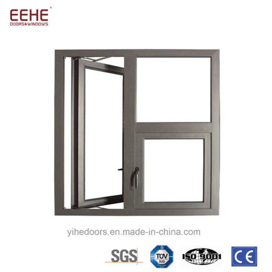 Powder Coating Finished Aluminum Casement Window Doors