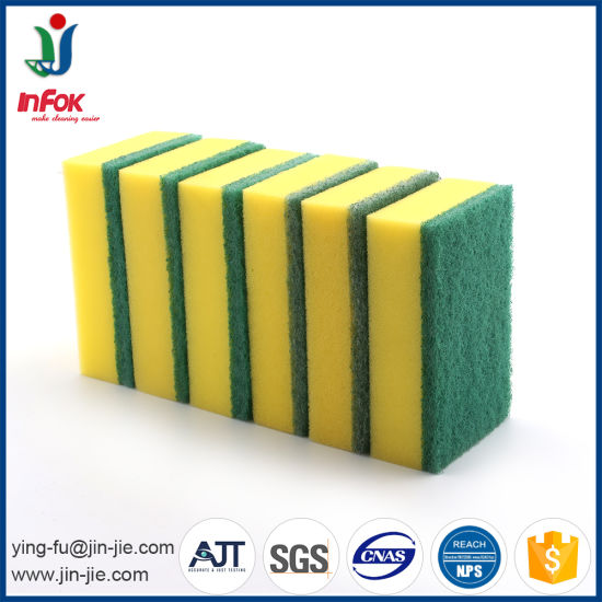 (YF-SP14) Eco-Friendly Kitchen Cleaning Sponge Scourer pictures & photos
