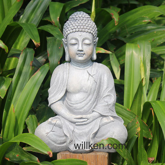 Well known China Antiques Bronze Buddha Statue Sculpture for Garden Outdoor  MT23