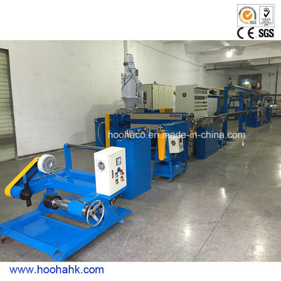 High Speed Engergy Saved Plastic Cable Wire Extrusion Production Line pictures & photos
