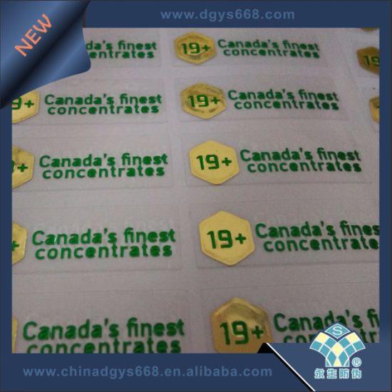 Embossing Foil Security Transparent Sticker