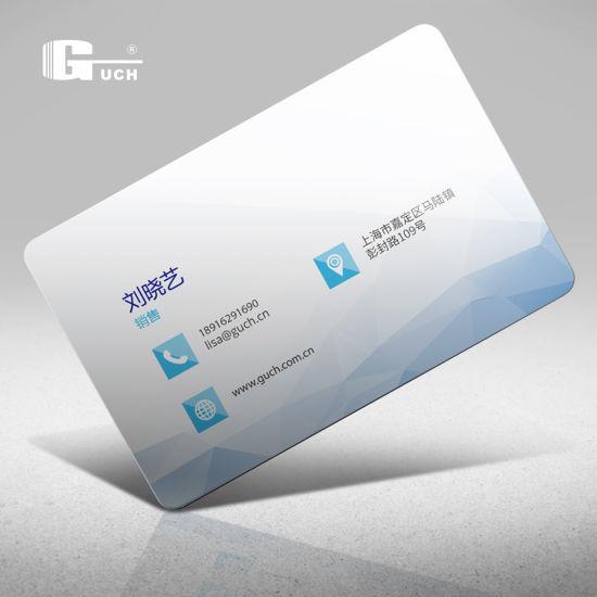 Inkjet Both Sides Printable Flexible Plastic PVC Business Card