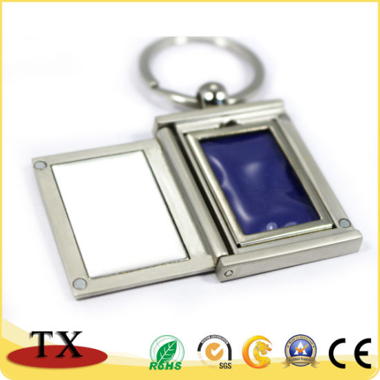 Portable Metal Photo Frame Key Chain with Lid pictures & photos