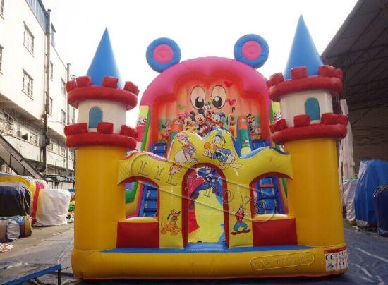 Giant Inflatable Slide for Sale, Cheap Slip N Slide, Inflatable Double Lane Slip Slide pictures & photos