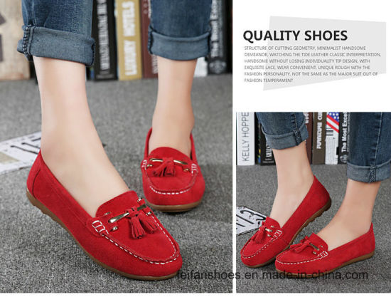 4234156a8d9 China Fashion Lady Suede Loafer Leather Casual Sneaker Shoes Srx0907 ...