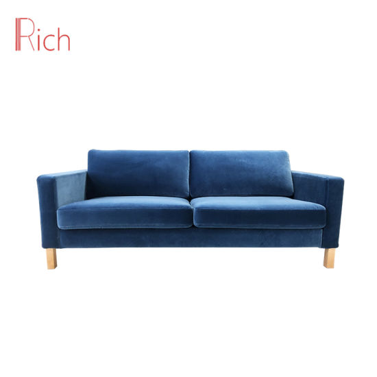 Modern Hotel Reception Office Living Room Furniture Double Fabric Sofa