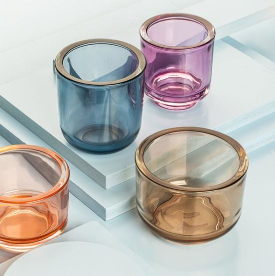 Special Design Tealight Candle Holder Insulated Empty Glass Candle Cup