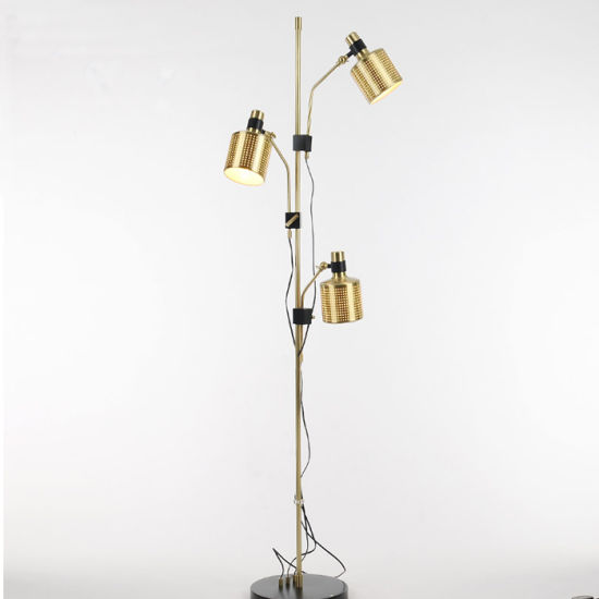 China 3 Lights Luxury Modern Hotel Standing Floor Lamp Light In Gold With Adjustable Heads For Living Room Bedroom China Floor Lamp Standing Lamp
