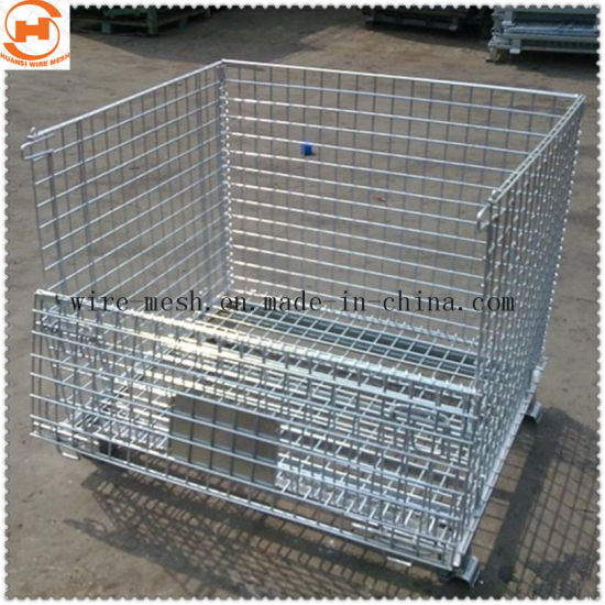 Galvanized Folded Wire Mesh Container