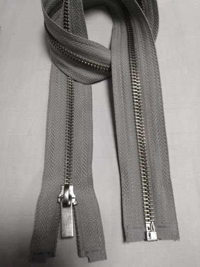 Open End Metal Zipper with Double Slider pictures & photos