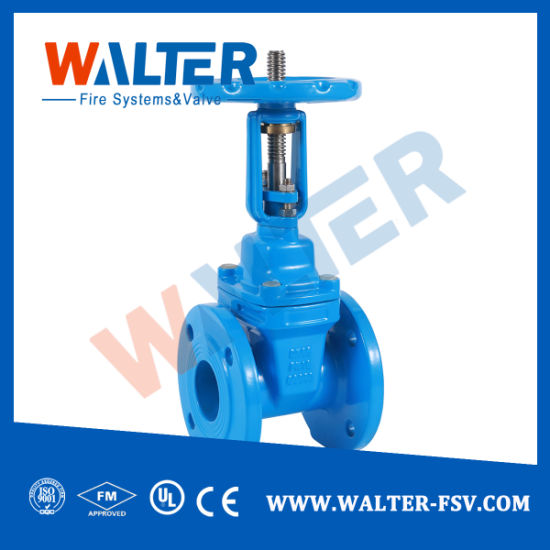 DIN3202 F4 Non Rising Stem Resilient Seated Gate Valve Pn16