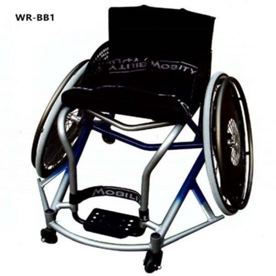Hospital Lightweight Folding Metal Manual Wheelchair for Elderly