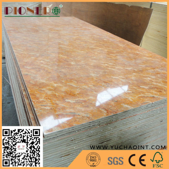 China Laminated Melamine Paper Faced Plywood For Kitchen Cabinet