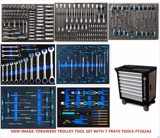 7drawers Heavy Duty Trolle Tool Set in EVA Packing (FY262A) pictures & photos