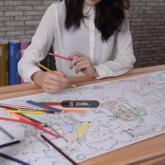China Custom Giant Coloring Book Paper Roll For Kids China
