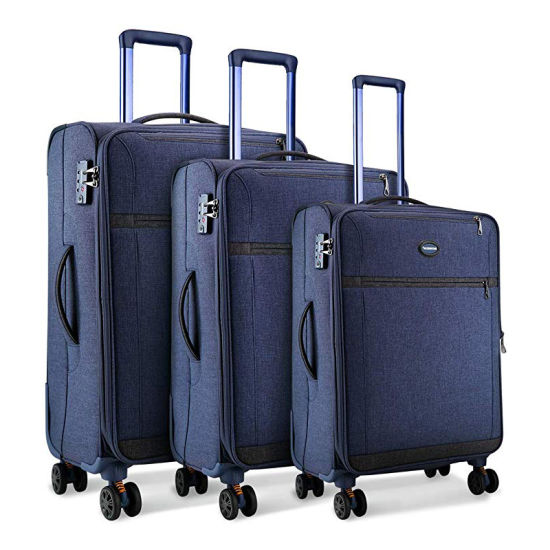 Durable Softshell Boarding Suitcase Lightweight Carry-on Expandable Luggage for Travel