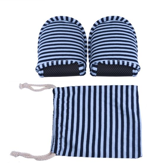 100% Cotton Fabric Folding Soft Sole Traveling Slipper Airplane Slipper Hotel Slipper in Cotton Bag