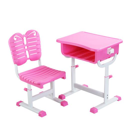 China Metal Plate Comfort School Desk, Pink Metal School Desk