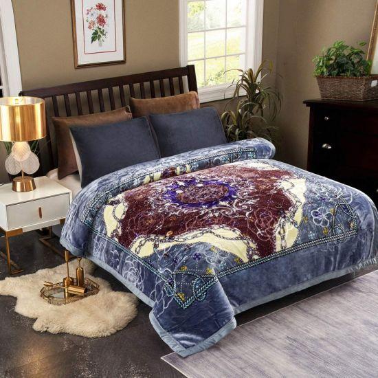 Shinnwa Plush Raschel Blanket Korean Sofa Throws Mink Blankets Home Textile Fabric House Floral Quilt Winter Mink Blanket for Bedroom Living Room Sofa Cover
