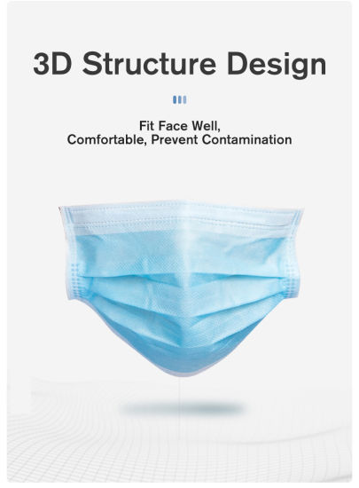 in-Stock Manufacturer Non-Wovendisposable Medical Face Mask