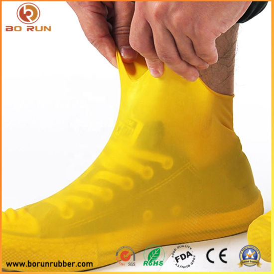 OEM Custom Non - Slip Waterproof Colorful Silicone Shoe Cover for Cleaning and Rainy Days