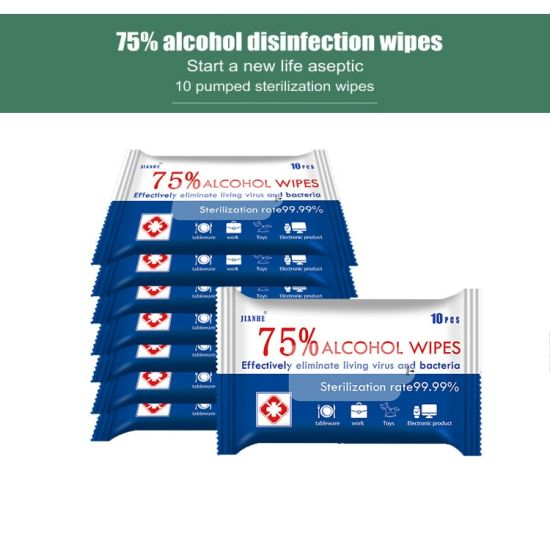 Industry Factory House Home Outside Street Sterilize Protection 75% Alcohol Wet Wipes