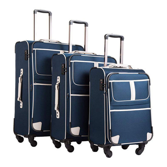 Custom Fashion Portable Expandable Softshell Oxford Luggage Set for Travel