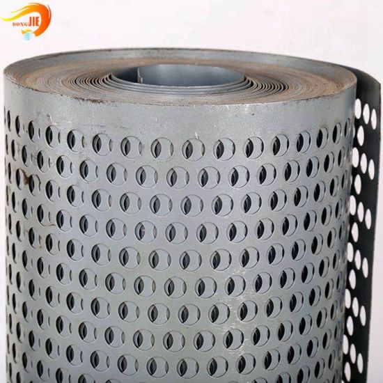 Factory Supply Stainless Steel Perforated Metal Mesh for Filter Cartridge