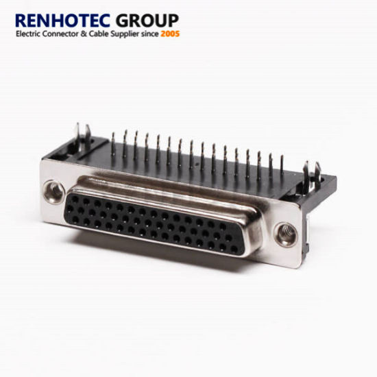 44pins Female Right Angle Connector PCB Mount D Sub Connector