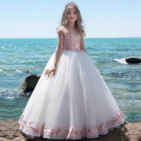 China Children Lace Flower Girl Skirt Wedding Dress Clothing