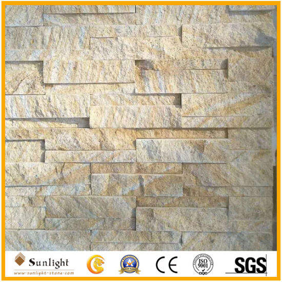 China Natural Yellow Sandstone Tile For External Wall Cladding