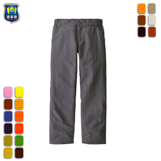 673b29fbedf4b China Polyester Spandex Elastic Waist Pockets Casual Pants - China ...