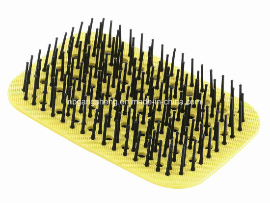 Color Rubber Pad with Nylon Pins Hair Brush Accessory