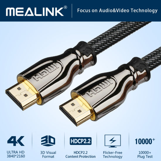 China High Speed 4K HDMI Cable 2 0 with 24K Gold Plated