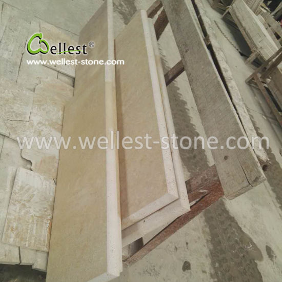 Golden Beige Travertine Stone Step Treads U0026 Risers For Hotel Entrance Hall  Villa