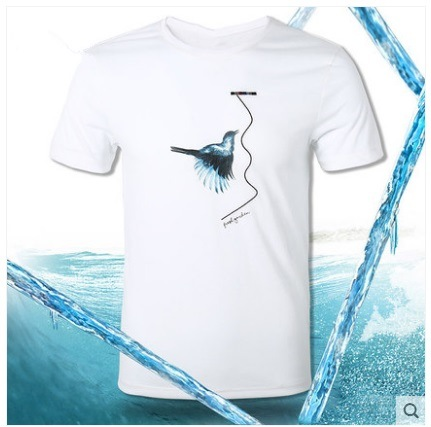 Chill Custom Clothing Cotton/Polyester Tee Shirt Plain Men's T-Shirts