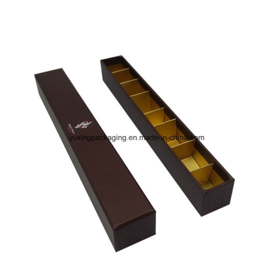 Custom Square Long Style Paper Chocolate Box with Divider