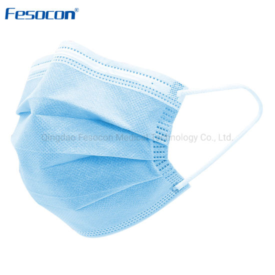 3 Layers Non-Woven Protective Disposable Ear-Loop Face Mask Medical Mask