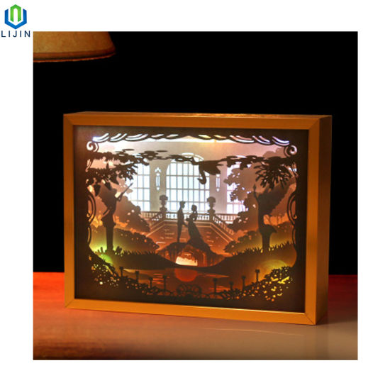 Paper Lighting Box 3D Shadow LED Night Light pictures & photos