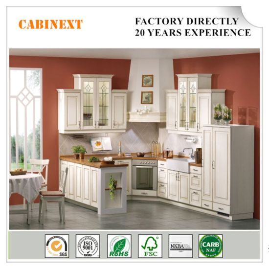 China Customized Free Design White Paint Lacquer Kitchen Cabinet In American Style China Modern Kitchen Cabinet Home Furniture
