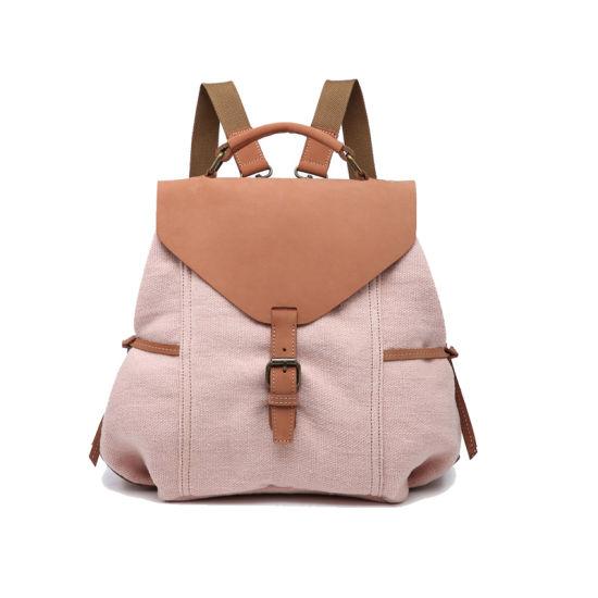 Fashion Women Canvas Backpack Rucksack Satchel Travel Hiking School Book Bag