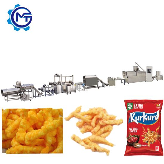High Efficiency Full-Automatic Fried Cheetos/Kurkure/Niknak Making Machine