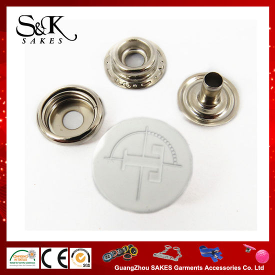 Fashion Metal Button Jacket Type Snap Fasteners Button for Garment with Enamel