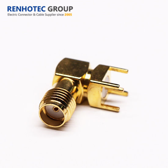 SMA Jack Connector Angled Gold Plated for PCB