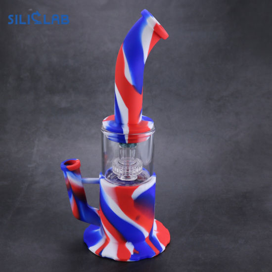 Colorful Glass Water Smoking Pipe Silicone DAB Rig with Wholesale Price pictures & photos