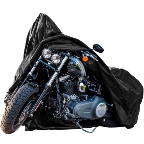 Motorcycle Accessory All Weather Black Xxxl Largewaterproof Outdoor Protects Fits up to 118 Inch Harley Davidson, Honda YAMAHA and More Motorcycle Cover