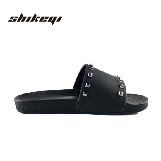324450ff078e Rivet Flat Sandal China Latest Design Women Slipper Sandals for Woman  Slipper Ladies Flat Slipper